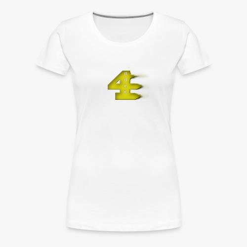 4orce (Yellow) - Women's Premium T-Shirt