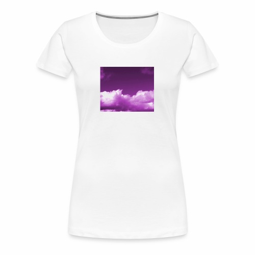 background sky purple blue nature wallpapers - Women's Premium T-Shirt
