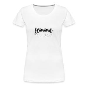 Femme de tête (noir) - T-shirt premium pour femmes