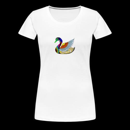 the swan - Women's Premium T-Shirt