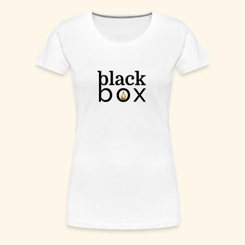 Black Box Hemp Logo Gold Drop - Women's Premium T-Shirt