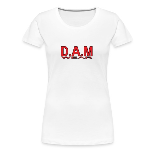 BIG RED D A M LETTERS - Women's Premium T-Shirt