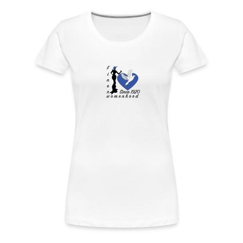 womenhoodblktext2 finerwomenhood - Women's Premium T-Shirt