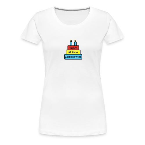 ZodiacTwins cake logo Team Libra - Women's Premium T-Shirt