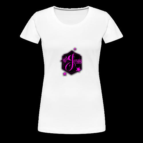 GilJayy Badge (Pink) - Women's Premium T-Shirt