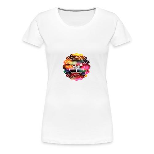 Underground_Film_Initiative_Logo_Colour_Pop_Bokeh - Women's Premium T-Shirt