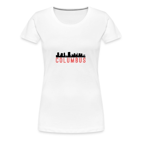Columbus Skyline - Women's Premium T-Shirt