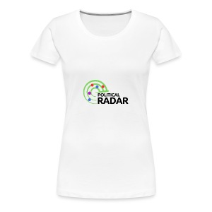Political Radar Logo - Black - Women's Premium T-Shirt
