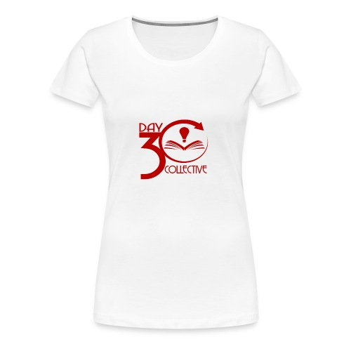 30 Day Collective Logo, Red - Women's Premium T-Shirt