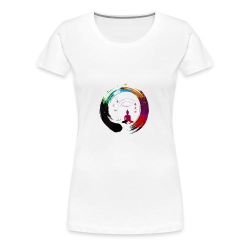 Zen Meditation Yoga Buddha - Women's Premium T-Shirt