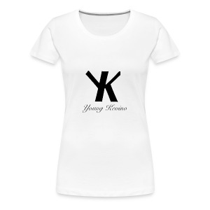 Young Kevino Official Logo (Black) - Women's Premium T-Shirt