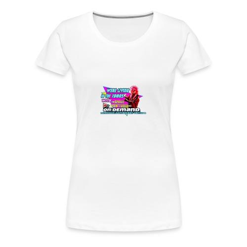 WLIT 1980s On Demand Original with mixcloud link - Women's Premium T-Shirt
