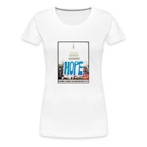 Women's March on Washington 2017-Hope - Women's Premium T-Shirt