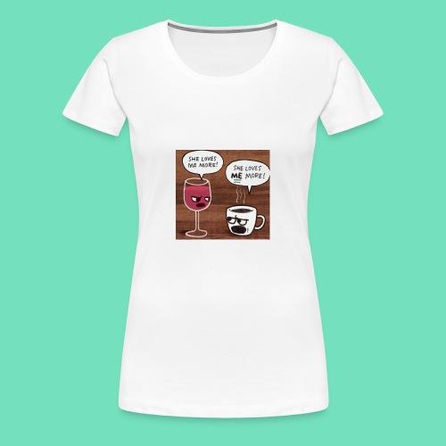 coffee v wine - Women's Premium T-Shirt