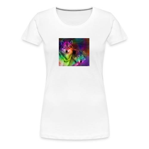 rainbow wolf 2 - Women's Premium T-Shirt