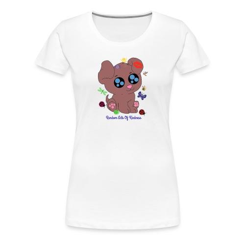 Rose Brown puppy shirt - Women's Premium T-Shirt