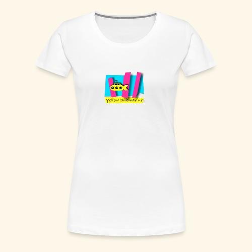 Yellow Submarine-CMKY - Women's Premium T-Shirt