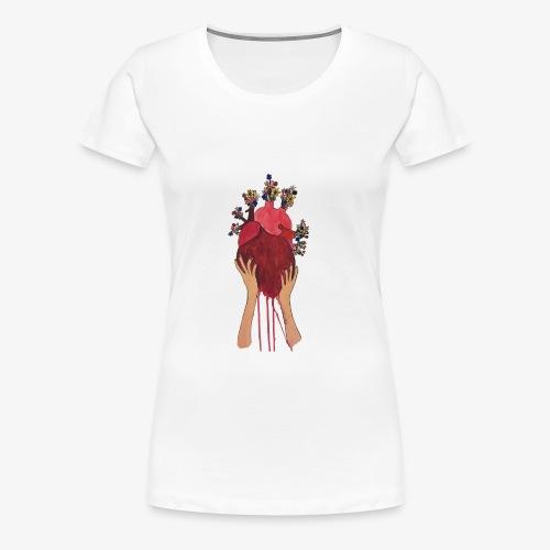 open your heart - Women's Premium T-Shirt