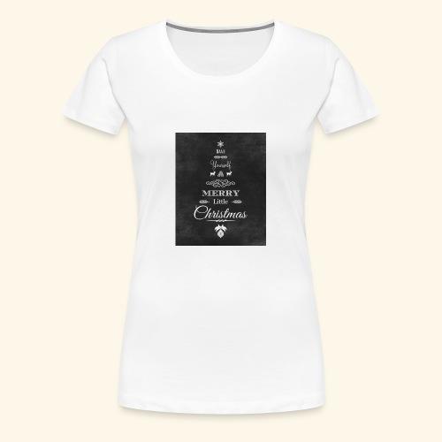36de4af5f6fc233fcbe6ac1f16d23071 christmas chalkb - Women's Premium T-Shirt
