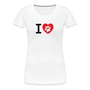 I LOVE DOG - Women's Premium T-Shirt