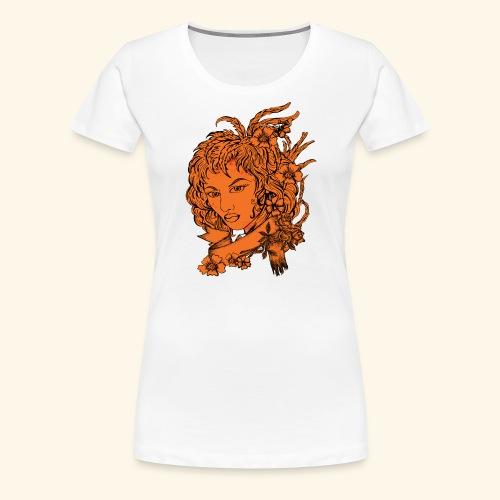 Women Face - Women's Premium T-Shirt