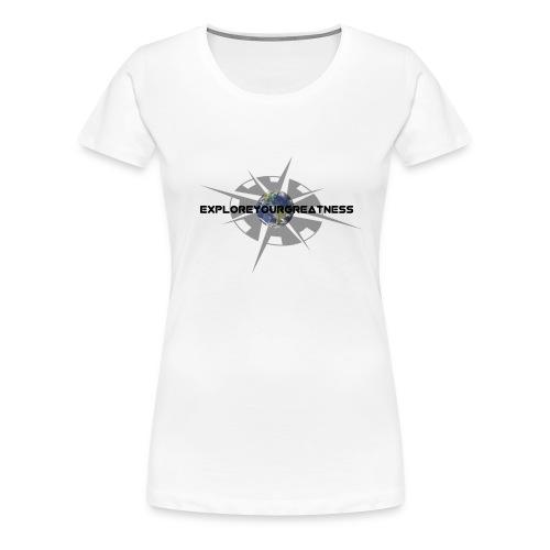 ExploreYourGreatness black logo - Women's Premium T-Shirt