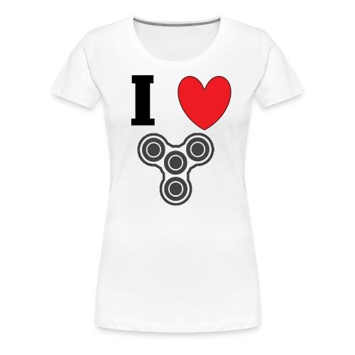 i love fidget spinners! - Women's Premium T-Shirt