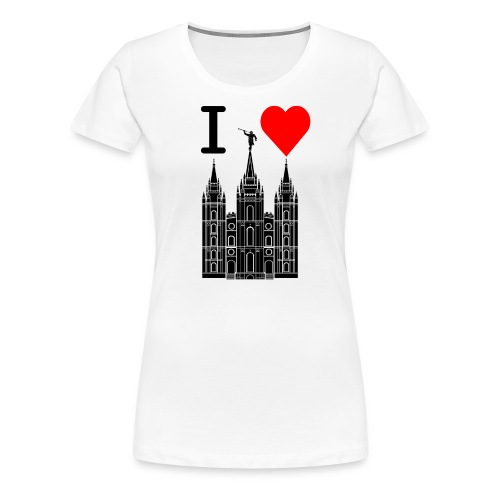 I (Heart) the Temple - Women's Premium T-Shirt