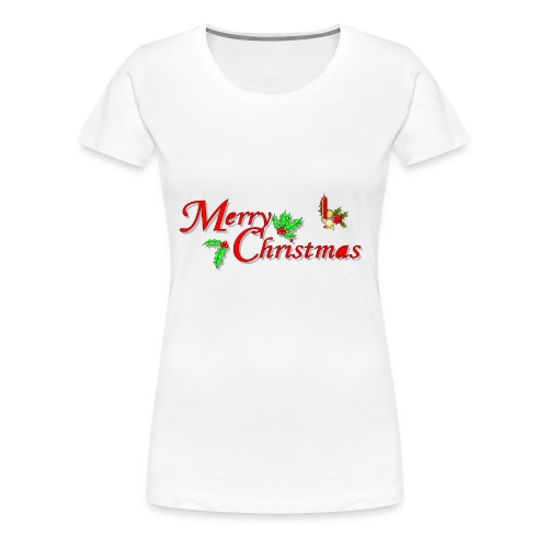 Merry Christmas Happy Holidays Season shirt bells - Women's Premium T-Shirt
