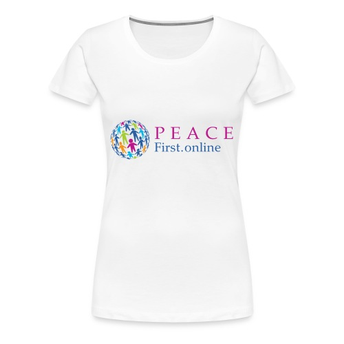 LogoPeaceFirst - Women's Premium T-Shirt