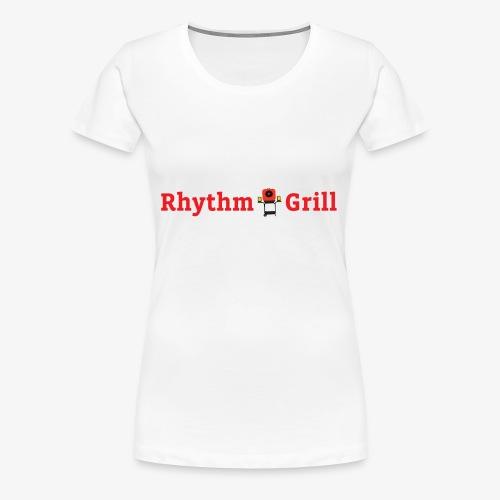 Rhythm Grill word logo - Women's Premium T-Shirt