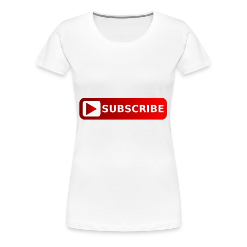 subscribe png youtube subscribe red png image 3935 - Women's Premium T-Shirt