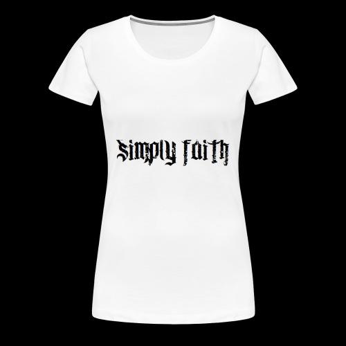 SIMPLY FAITH - Women's Premium T-Shirt