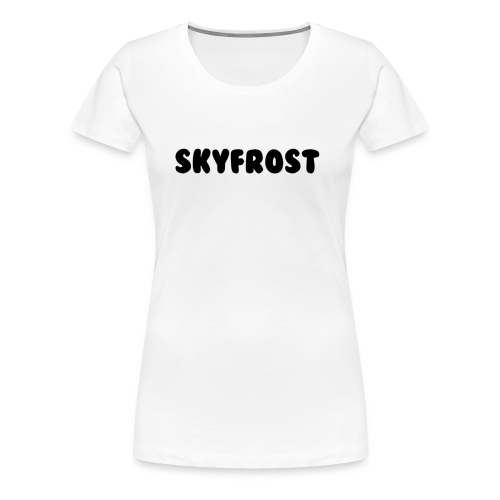 SkyFrost Black Text - Women's Premium T-Shirt