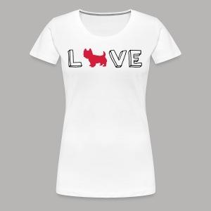 Westie Love - Women's Premium T-Shirt