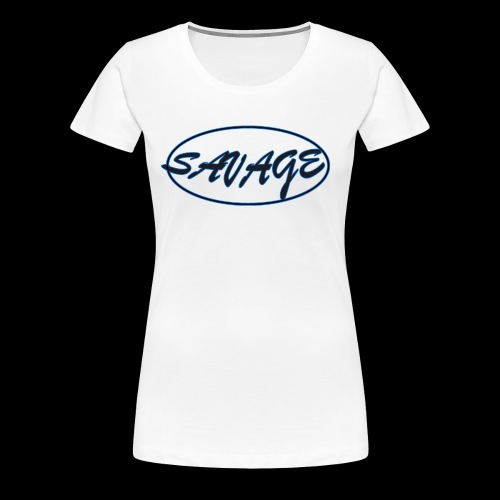 Savage Script Oval - Women's Premium T-Shirt