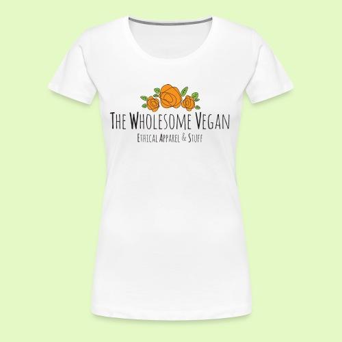 The Wholesome Vegan logo - Women's Premium T-Shirt