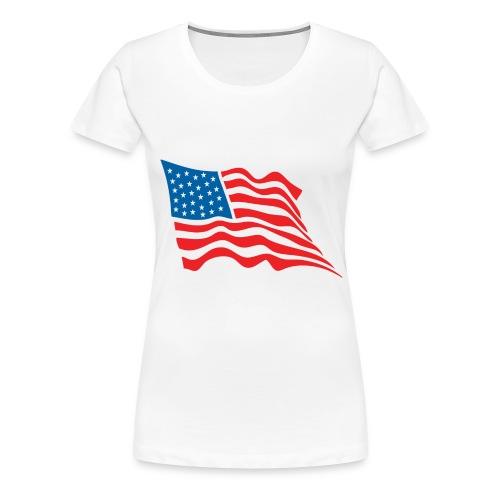 America Flag - Women's Premium T-Shirt