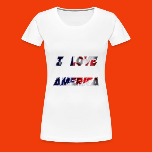 I Love America USA Shirt Country Flag Map T-Shirt - Women's Premium T-Shirt
