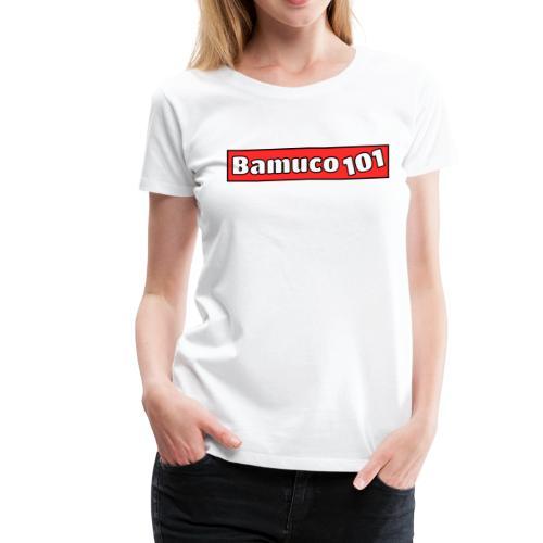 Bamuco101 Logo WhiteOnRed - Women's Premium T-Shirt