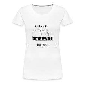 FORTNITE CITY OF TILTED TOWERS - Women's Premium T-Shirt