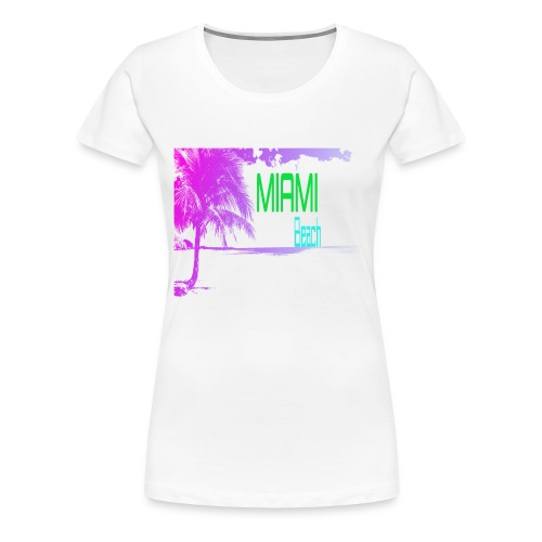 Miami Beach NEON - Women's Premium T-Shirt