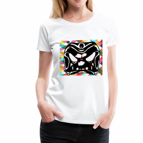 Arlechinno clipart on harlequin background - Women's Premium T-Shirt