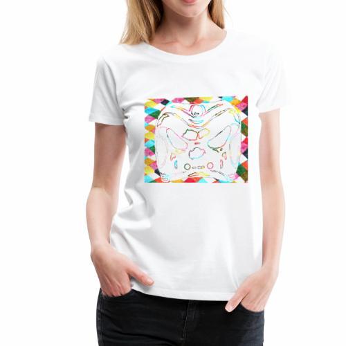 Arlecchino clipart cut out rainbow background - Women's Premium T-Shirt