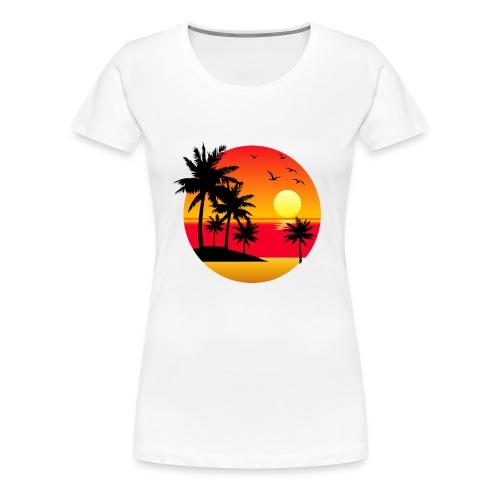 Sunset Summer T-Shirt - Women's Premium T-Shirt