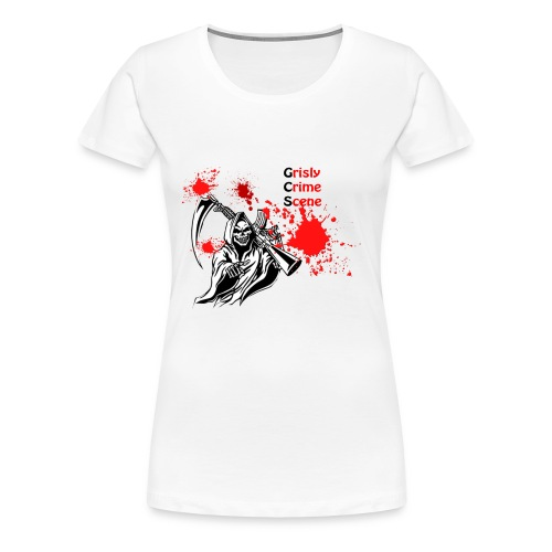 Grisly Crime Scene grim reaper - Women's Premium T-Shirt