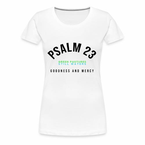 PSALM 23 CHAMPION (for white/lighter colors) - Women's Premium T-Shirt