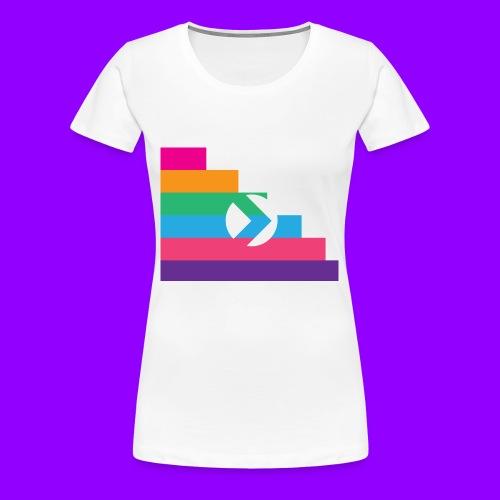 Yibizen Lined Logo Design - Women's Premium T-Shirt