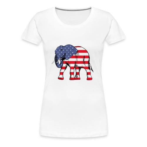 Patriotic Elephant - Women's Premium T-Shirt