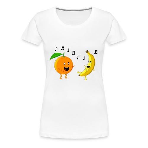 Dancing Orange and Banana - Women's Premium T-Shirt